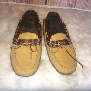 L.L. BEAN Dijon Pebbled Leather Driving Moccasin-8